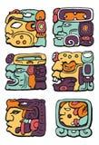 Maya sign coloured icon pack royalty free illustration