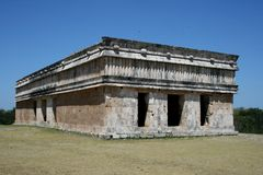 The Maya site Uxmal in Yucatan Royalty Free Stock Images