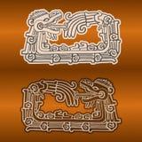 Maya snake Quetzalcoatl ouroboros Stock Photography