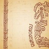 Maya snake Quetzalcoatl ouroboros half Stock Photo