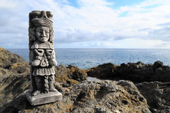 Maya Statue Royalty-vrije Stock Afbeeldingen