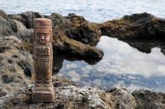Maya Statue Stock Photography