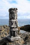 Maya Statue Royalty Free Stock Images