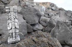 Maya Statue Royalty Free Stock Photo