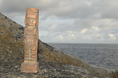 Maya Statue Royalty Free Stock Photography