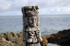 Maya Statue Royalty Free Stock Photography