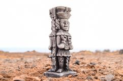 Maya Statue antique photographie stock