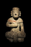 Maya Stone Statue Stock Photography