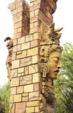 Maya strijdersstandbeeld Royalty-vrije Stock Fotografie