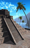 Maya temple. Made of stone Royalty Free Stock Photography