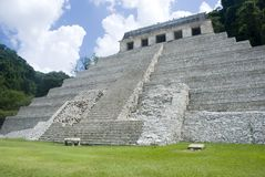 Maya temple. The Maya Temple of Inscriptions and also Pacal tomb in Palenque (Mexico Stock Image