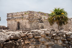 Maya Temple Facade in Tulum Mexico Royalty Free Stock Photo
