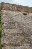 Maya temple, with its high stairs, in the archeological area of Uxmal stock photos