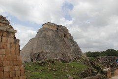Maya Temple, temples mexicains cancun Images libres de droits