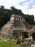 Maya Temple van Inschrijvingen in Palenque, Zuidelijk Mexico Royalty-vrije Stock Afbeelding