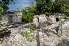 Maya Temple Yucatan Mexico Stock Photo