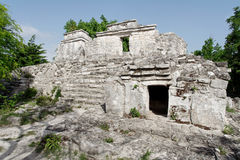 Maya Temple in Yucatan Mexico Stock Images
