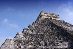Maya temples in chichen-itza, Mexico Royalty Free Stock Photos