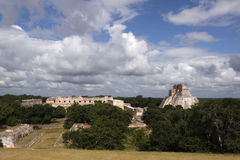 Maya temples in Uxmal, Mexico Stock Photo