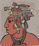 Maya tribal chief Royalty Free Stock Photography