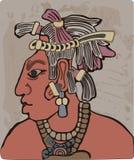 Maya tribal chief Royalty Free Stock Photography