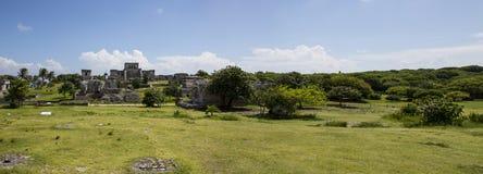 Maya van Tulum Ruïnes - Cozumel Stock Afbeeldingen