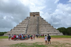 Maya Yucatan Mexi�о ChichenItza Kukulkan staden  Royalty Free Stock Photography