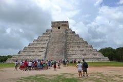Maya Yucatan Mexi�о ChichenItza Kukulkan staden  Royalty Free Stock Photography