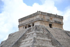 Maya Yucatan Mexi�о ChichenItza Kukulkan staden Stock Photography