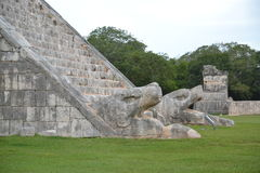 Maya Yucatan Mexi�о ChichenItza Kukulkan staden Royalty Free Stock Images