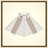 Maya ziggurat postcard Royalty Free Stock Images