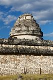Mayabeobachtungsgremium EL-Caracol stockbilder