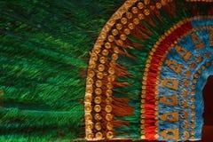 Mayafeder-Kopfschmuck in Mexiko, Tulum lizenzfreies stockfoto