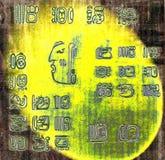 Mayainderhintergrund stock abbildung