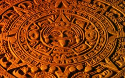 Mayakalender. Stockfotografie