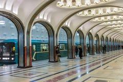 Mayakovskaya station i Moskva Fotografering för Bildbyråer