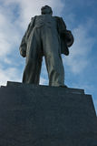 Mayakovsky monument in the center of Triumphalnaya stock image