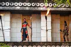 mayan πολεμιστές ναών Στοκ Εικόνες