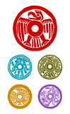 Mayan σύμβολα διανυσματική απεικόνιση