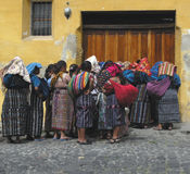 Mayan. Women in antigua group Royalty Free Stock Image