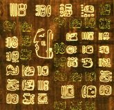 Mayan abstracte achtergrond Royalty-vrije Stock Fotografie