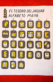 Mayan alphabets royalty free stock image