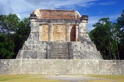 The mayan altar. An altar in Chichen Itza ancient Mayan city in Yucatan, Mexico Stock Image