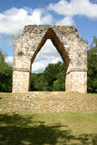 Mayan arch. Big arch in mayan ruins over blue sky Royalty Free Stock Photo