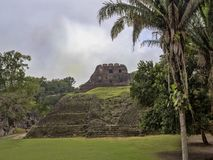 Mayan archaeological monuments of Xunantunich, Belize. One Mayan archaeological monuments of Xunantunich, Belize stock photo