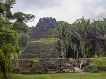 Mayan archaeological monuments of Xunantunich, Belize. One Mayan archaeological monuments of Xunantunich, Belize stock image
