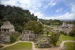 Mayan archaeological plats av Palenque Arkivfoto