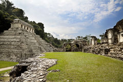 Mayan archaeological site of Palenque Royalty Free Stock Photo