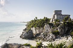Mayan archaeological site of tulum Stock Images