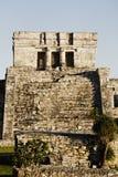 Mayan archeologic site of tulum Stock Photos